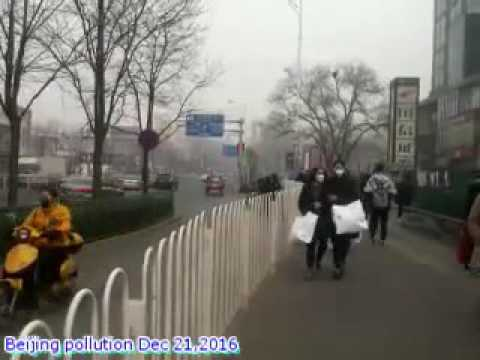 Phone Clips - Beijing, China Pollution Dec 21, 2016