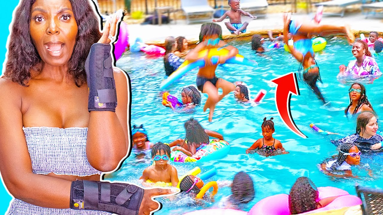 Pool Party Gets OUT OF CONTROL! Too Many People!