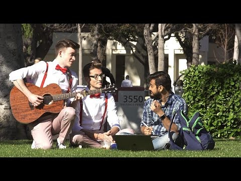 SINGING LOVE SONGS TO COLLEGE STUDENTS (Valentine's Day)