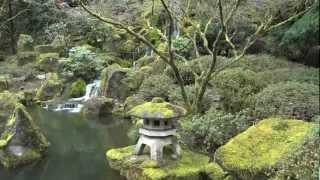 Heavenly Falls, Lower Pond, Zig Zag Bridge - Portland Japanese Garden