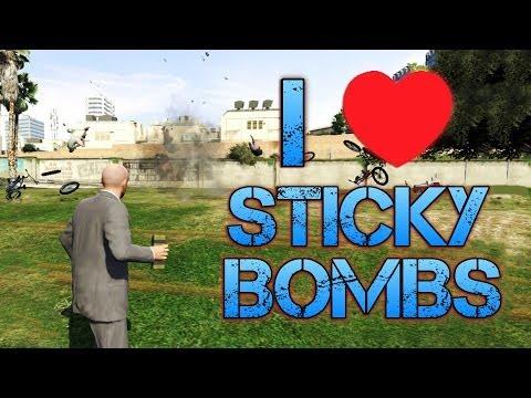 Grand Theft Auto V | I LOVE STICKY BOMBS | Moon Gravity + Invincibility