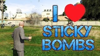 Grand Theft Auto V | I LOVE STICKY BOMBS | Moon Gravity + Invincibility