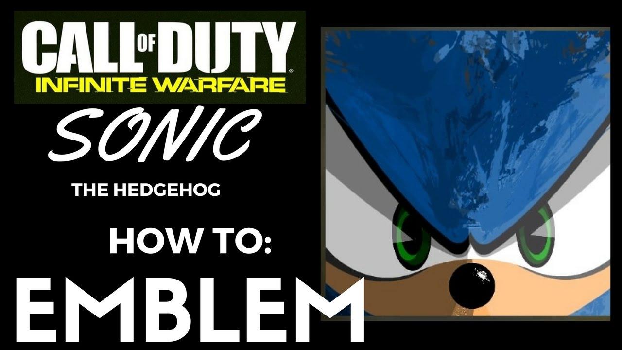 Iw How To Emblem Sonic The Hedgehog Art On Infinite Warfare Tutorial Youtube