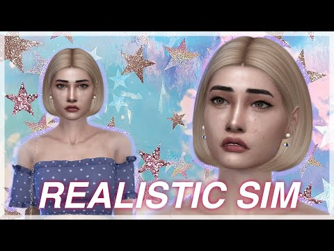 MAKING A REALISTIC SIM ON THE SIMS 4 FULL CC LIST + SIM DOWNLOAD | The Sims 4: Create a Sim