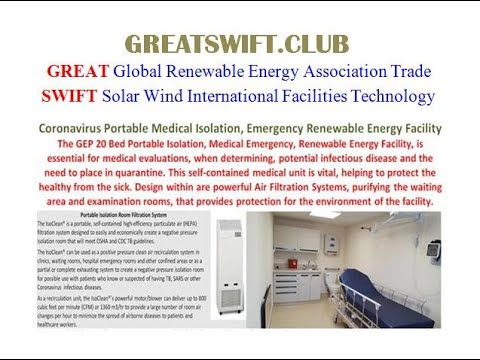#19 Coronavirus Portable Medical Isolation, Emergency Renewable Energy Facility