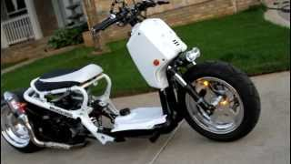 2007 Fatty Honda Ruckus on Air Ride. Walk around.