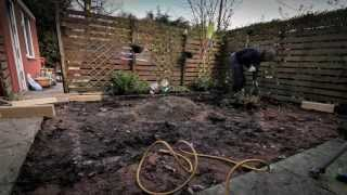 Garden makeover using artificial grass 2013