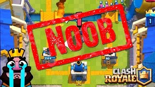 The biggest NOOB of ALL TIME the CLASH ROYALE!!