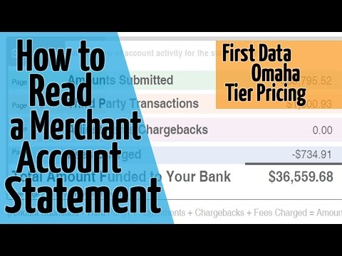 How To Read A Merchant Account Statement - First Data Omaha - Tier Pricing