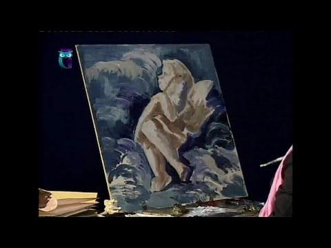 Уроки рисования (№ 116) масляными красками. Рисуем человека: анатомия скелета и мышц