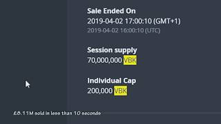 70,000,000 VeriBlock [VBK] ($8.11M) sold in less than 10 seconds