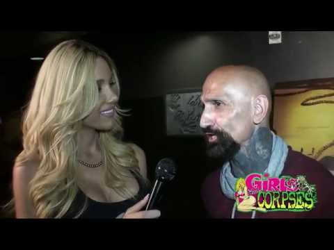 Miss Dahlia Elliot and Corpsy  actor Robert LaSardo at The Human Centipede 3 premiere