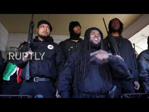USA: Black Panthers hold armed rally in North Carolina