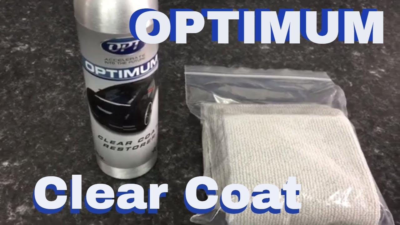 Optimum Clear Coat Restorer Ccr Youtube