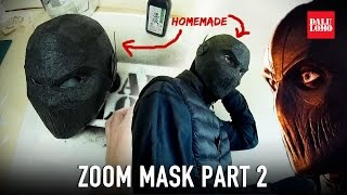 DIY Zoom Mask Part 2 - Reusable Cardboard Base & Skin Cosplay How to