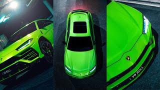 VIBRANT CAR PHOTOGRAPHY   Verde Mantis Lamborghini Urus