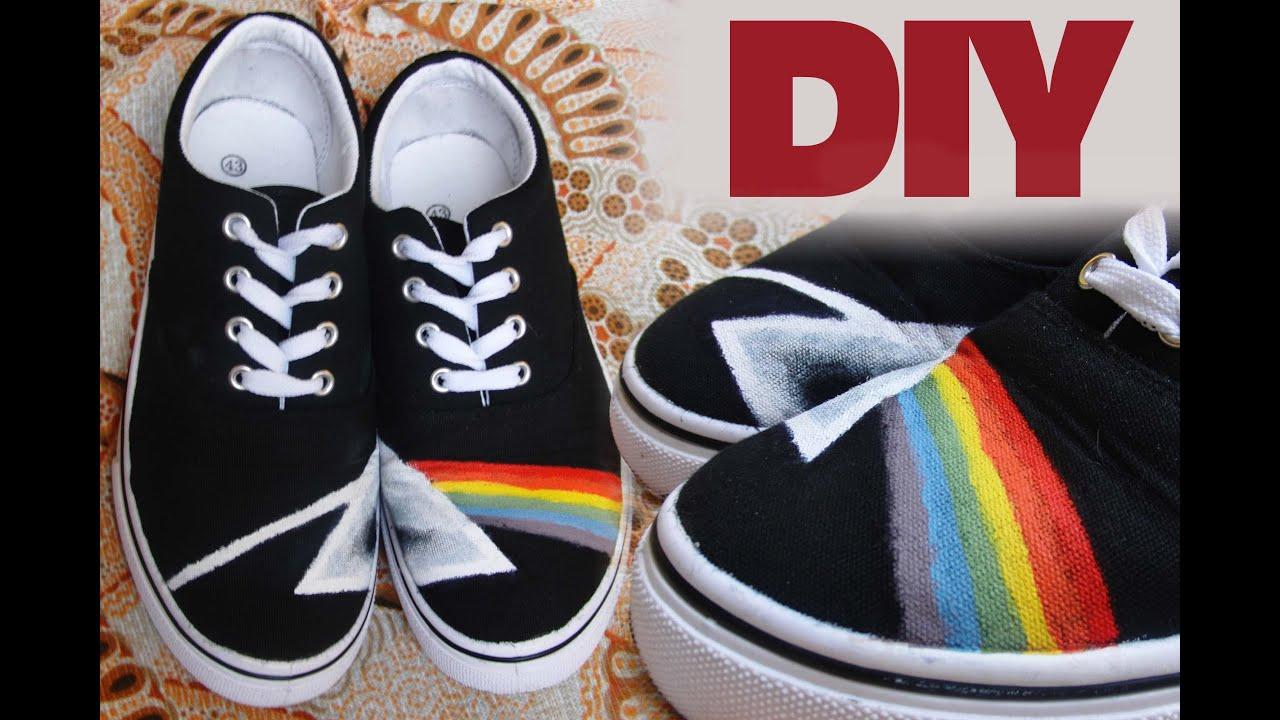 Pink floyd shoes diy youtube for Diy shoes design