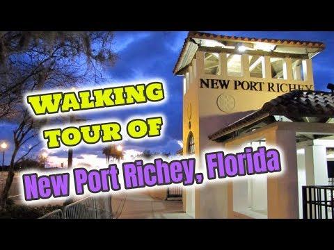 Walking tour of New Port Richey Florida