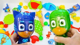 PJ Masks LEARNS Colors with Toys in Bubbles by Puggy Pineapple