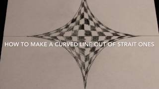How to draw a curved line out of strait lines