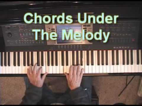 Piano Lesson On Putting Chords Under Your Right Hand Melody Youtube