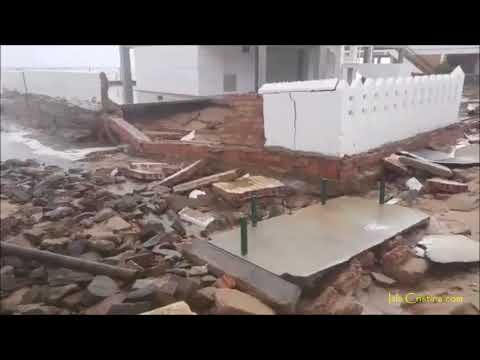 """Impresionante el daño de la tormenta """"Enma"""" en La Antilla  (Lepe)"""