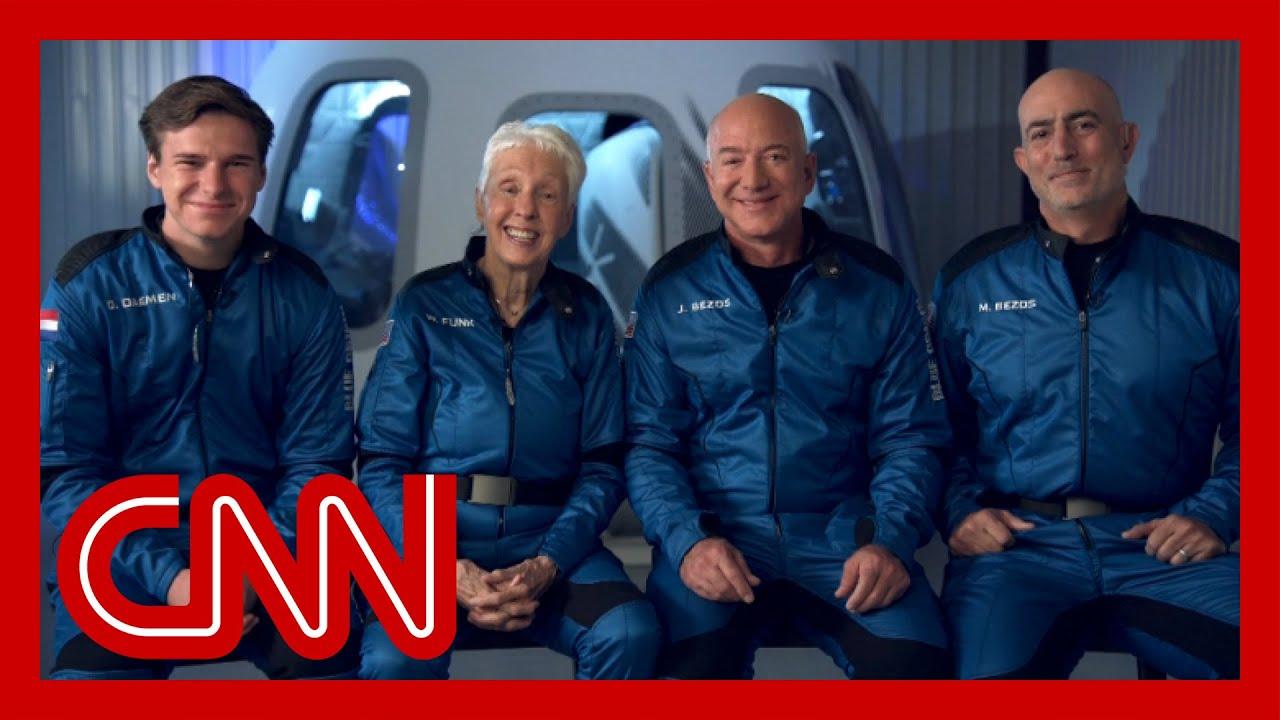 Download CNN speaks with Jeff Bezos ahead of space flight