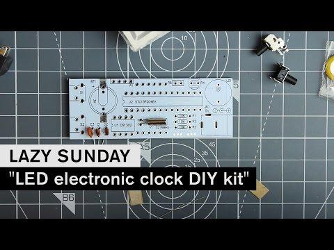 LAZY SUNDAY: LED electronic clock DIY kit - LS1