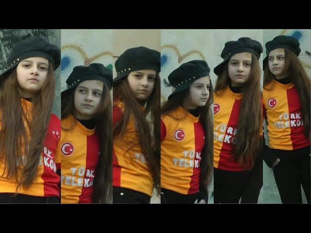 Türk bayrağı sevdalısı Azeri kızı Nurun inanılmaz Galatasaray sevgisi