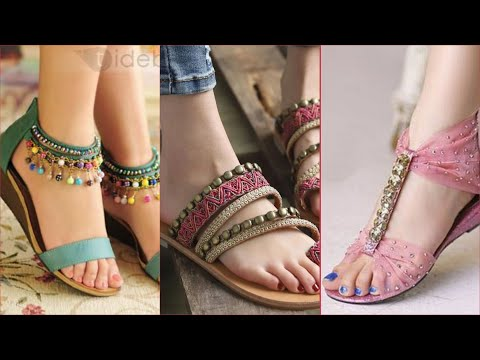 latest-flat-party-wear-shoes-designs||branded-foot-wear-wedding-collection