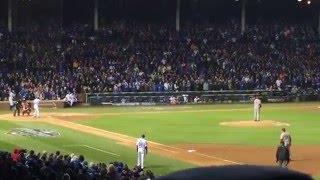 Munenori Kawasaki first at bat as a Chicago Cub at Cubs Home Opener Wrigleyfield 4/11/16