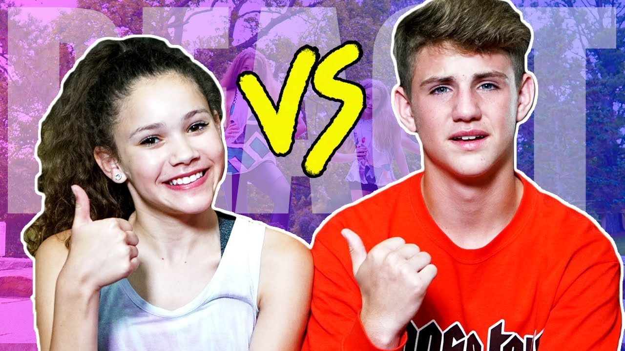 mattybraps reacts  like a girl  haschak sisters