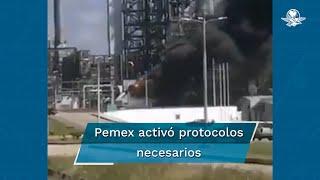 La Secretaría de Protección Civil informó que a las 14:00 horas del día de ayer se recibió el reporte de un incendio en el Turbo Generador No. 5 del Complejo Petroquímico