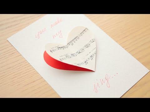 Идеи ОТКРЫТОК ко дню Святого Валентина СВОИМИ РУКАМИ/ за 5 МИНУТ
