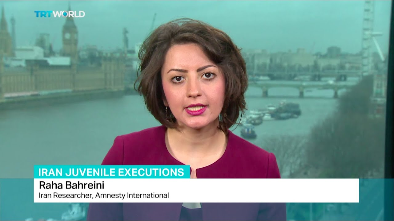 Interview with researcher Raha Bahreini about Iran juvenile executions - YouTube