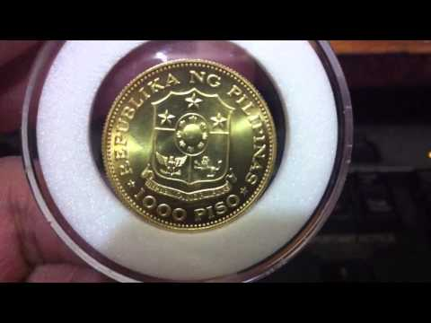 1975 Philippine Commemorative Marcos 1000 piso Gold Coin
