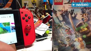LEGO Ninjago movie video game Nintendo switch unboxing!!!