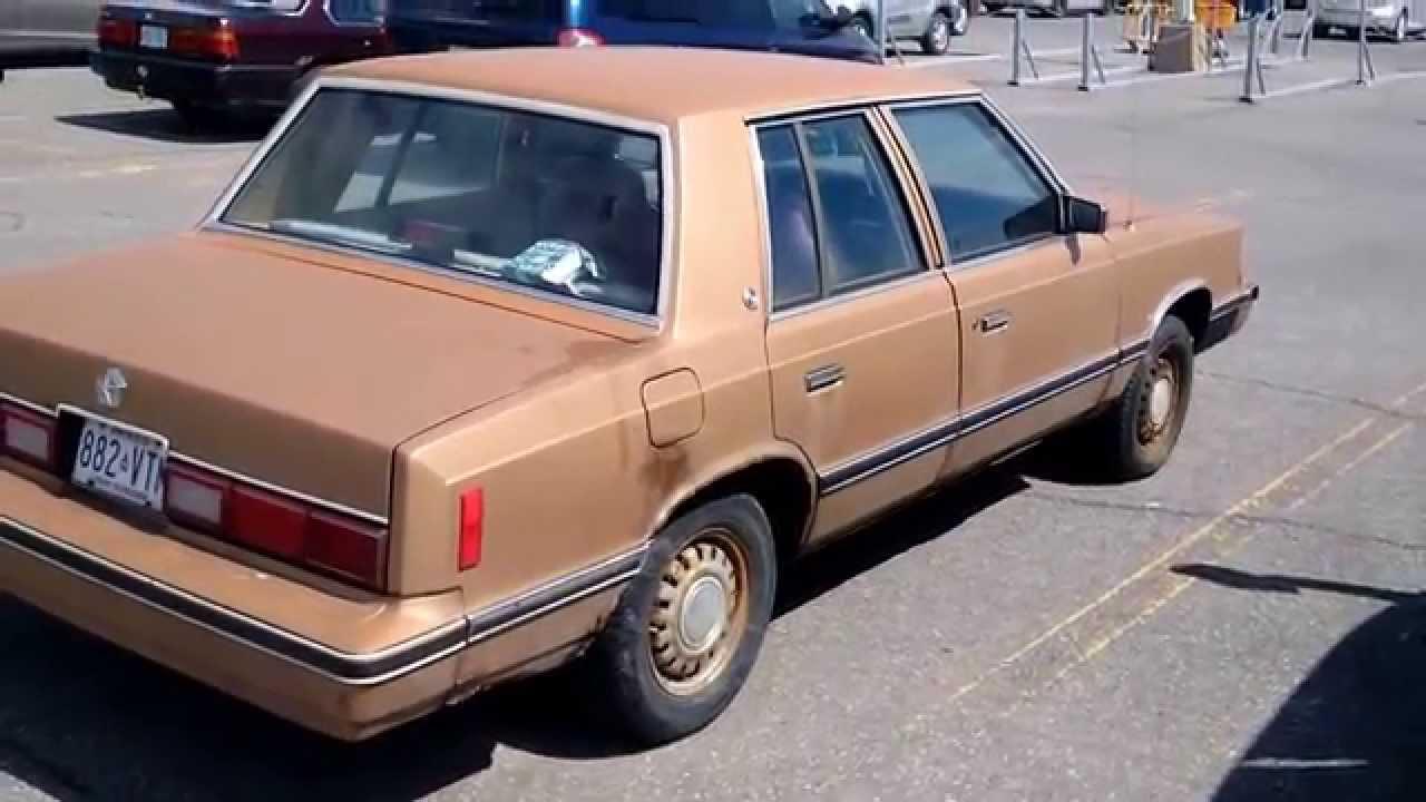 1982 Dodge Aries K Car Youtube