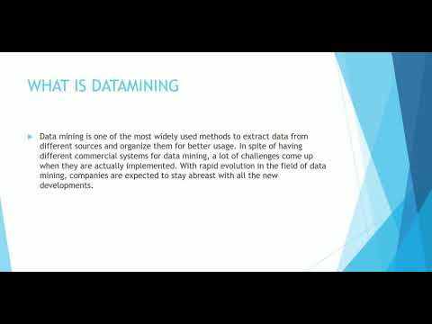 Current Trends In Data Mining..
