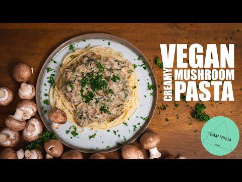 Vegan Creamy Mushroom Pasta (Quick & Easy)