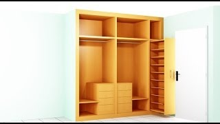 """como hacer un armario para la habitacion """"resumen"""""""