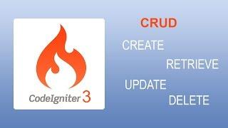 CodeIginter 3x CRUD - Select Insert Update Delete Edit Retrieve
