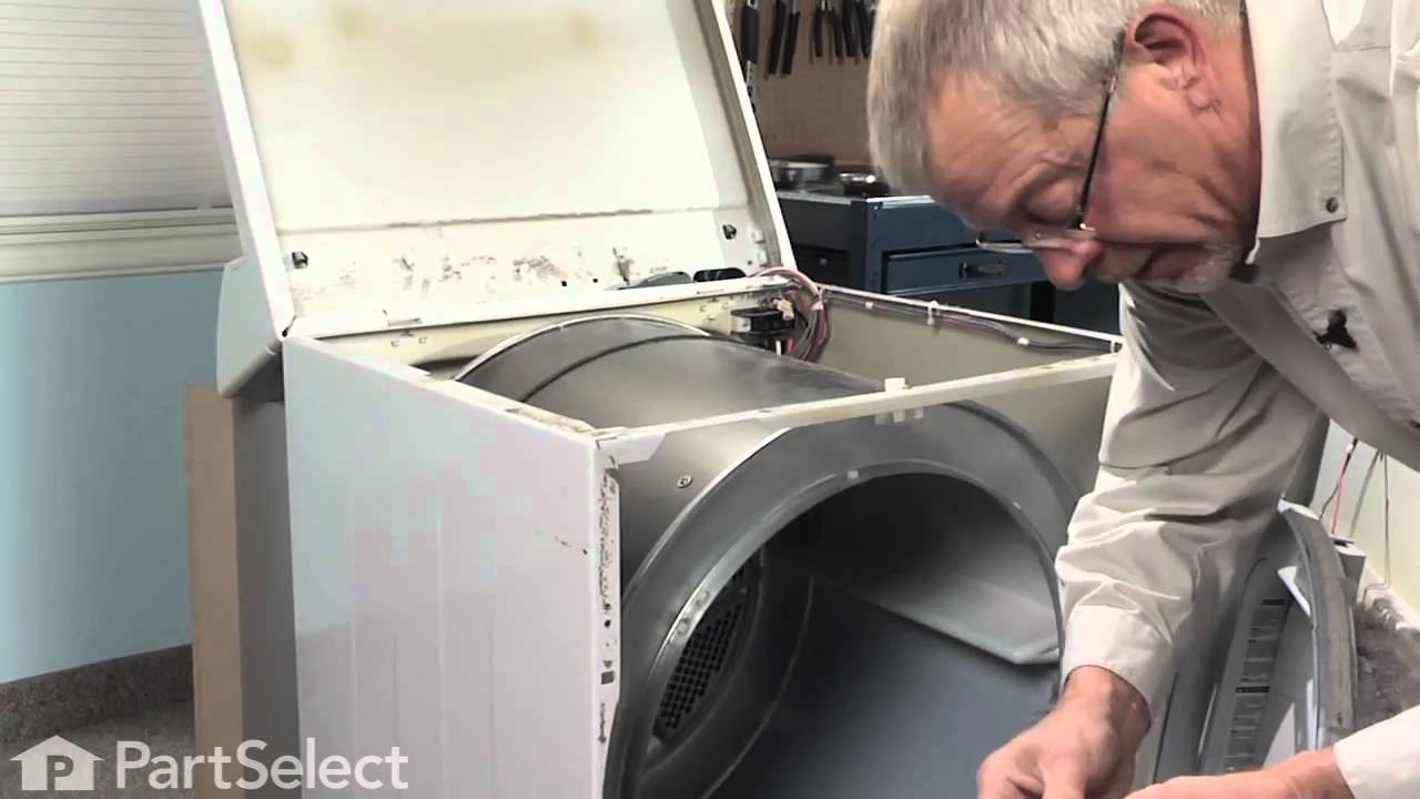 dryer repair replacing the dryer drum belt frigidaire part 134503600  [ 1280 x 720 Pixel ]