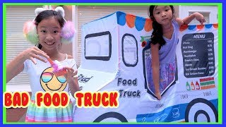 Pretend Play Ice Cream Food Truck ( Fast Food Challenge )