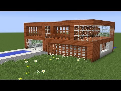 How to build a modern vacation house - Minecraft