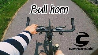 クロスバイクに角付けてみました。 ブルホーンに交換