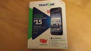 ASMR LGL164VL tracfone LG Fiesta 2 unboxing and review