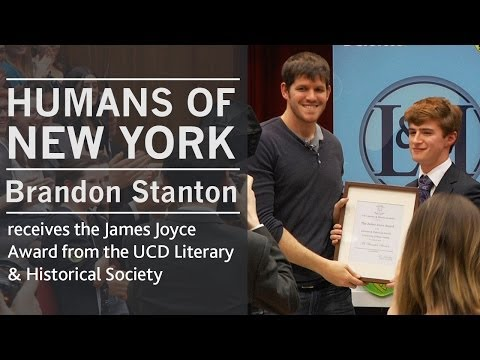 Humans of New York creator, Brandon Stanton | James Joyce Award | UCD Literary & Historical Society