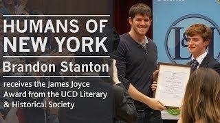 Humans of New York creator, Brandon Stanton   James Joyce Award   UCD Literary & Historical Society