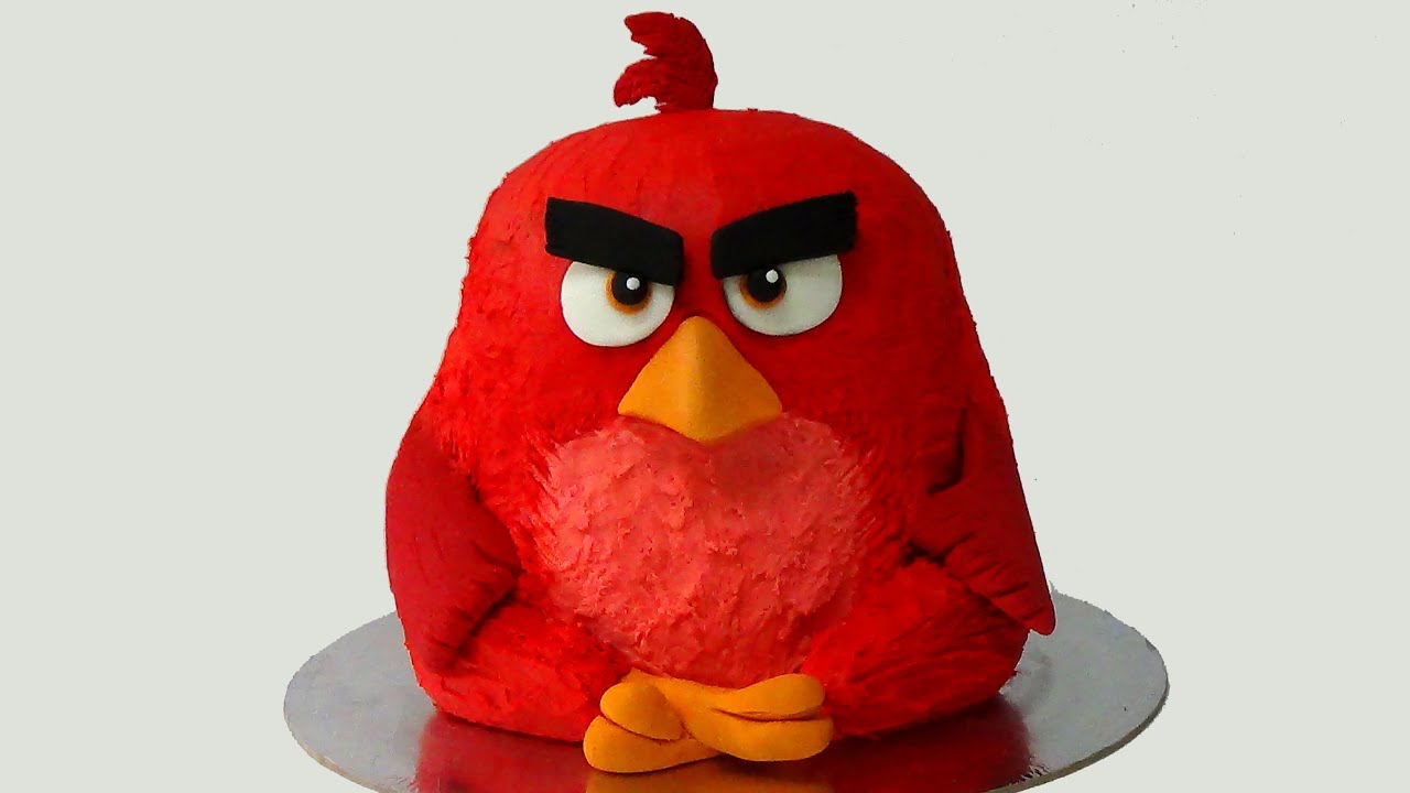 How To Make Angry Birds Birthday Cake